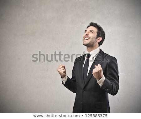 portrait · modernes · excité · affaires · joie - photo stock © stockyimages
