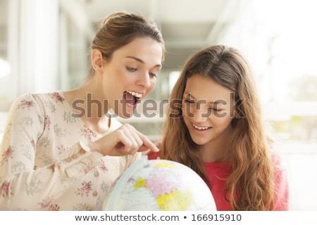 Deux géographie élèves école étudiant terre Photo stock © photography33