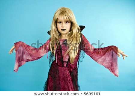 Girl Made Up As A Vampire At Halloween Stock photo © stuartmiles