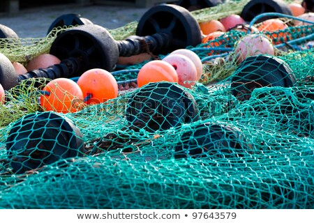Bir balık tutma beyaz ahşap Stok fotoğraf © luapvision