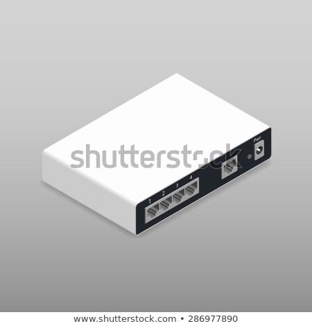 Zurück Seite Router Ethernet Licht Tabelle Stock foto © artush