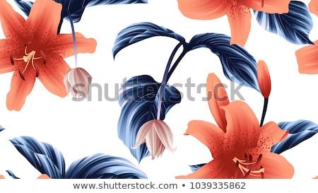 緑 · 茂み · シームレス · テクスチャ · 花 · 春 - ストックフォト © boroda
