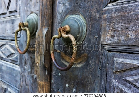 Metaal deur detail oude kerkhof istanbul Stockfoto © HypnoCreative