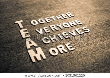 Team acronym for together everyone achieves more Stock photo © bbbar