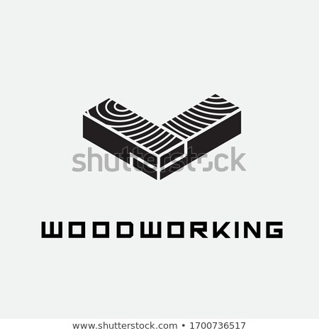Craftsman with wood lath and saw Stock photo © photography33