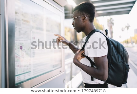 Student boarding a tram Stock photo © photography33