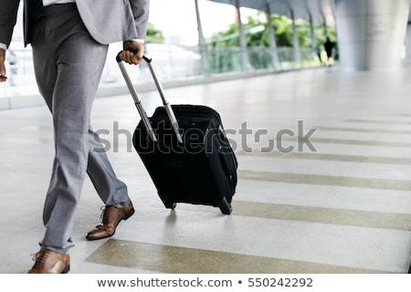 üzleti út férfi boldog tájkép utazás repülőtér Stock fotó © photography33