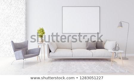 white sofa and lamp stock photo © ciklamen