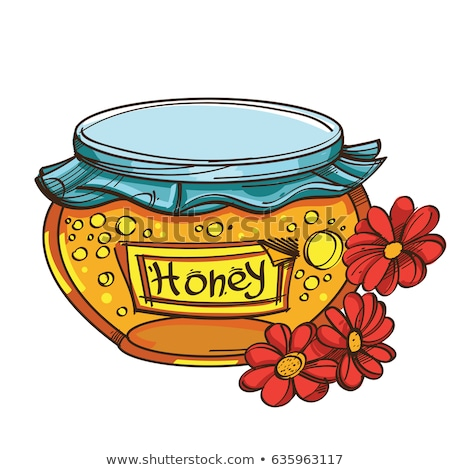 honey in the pot with a red cover vector illustration Stock photo © konturvid