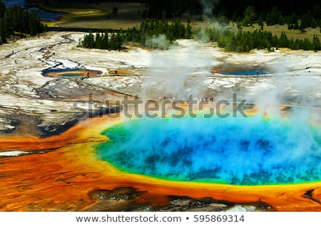 geyser in the yellowstone national park stock photo © prill