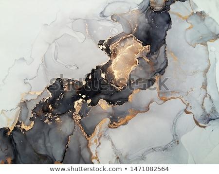 Mürekkep mavi pigment su yangın arka plan Stok fotoğraf © Calek