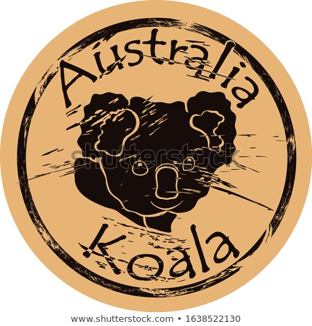 stamp with image of koala Stock photo © perysty