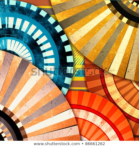 fraktál · absztrakt · szett · négy · hátterek · különböző - stock fotó © pathakdesigner