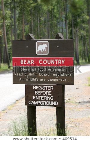 camping entrance sign stock photo © smithore