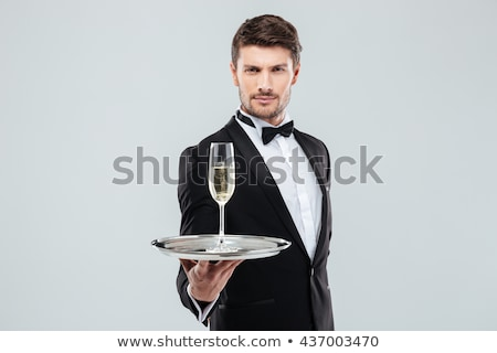 Man In Tuxedo With Champagne 1 stock photo © lisafx