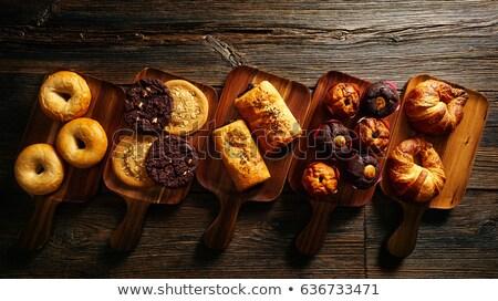 bakery croissant neapolitan chocolate cakes stock photo © lunamarina