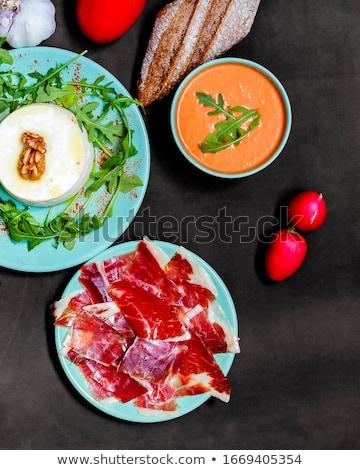 Hiszpanski ser rynku żywności zdrowia tle Zdjęcia stock © Marcogovel