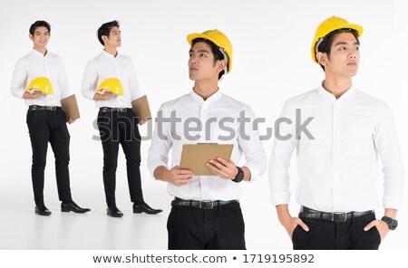 Builder stood in studio Stock photo © photography33