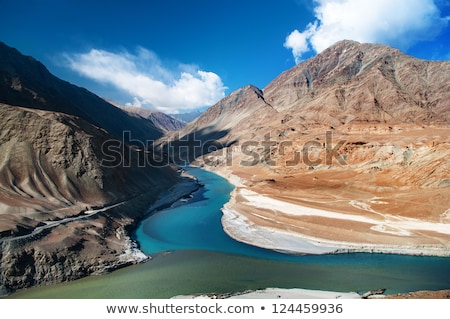 Zanskar And Indus Rivers In Ladakh India Foto d'archivio © szefei