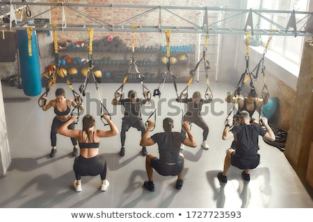 High-angle shot of a woman lifting weights Stock photo © photography33