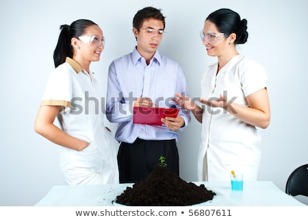 a scientist or a doctor taking glasses in his hand Stock photo © photography33