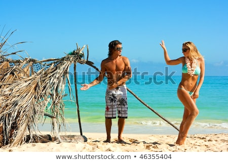 Unhappy woman going away on vacation Stock photo © photography33