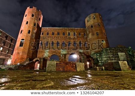 римской Италия город замок кирпичных Сток-фото © claudiodivizia