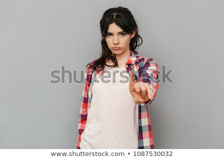 Girl with stop gesture Stock photo © Aikon
