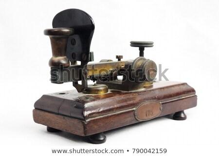 vieux · isolé · blanche · technologie · téléphone · clé - photo stock © jonnysek