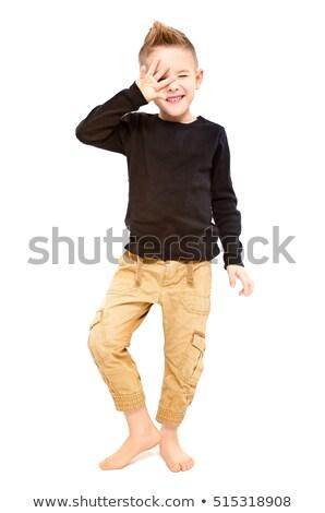 Izolált vicces fiú 5 éves Stock fotó © Elegies