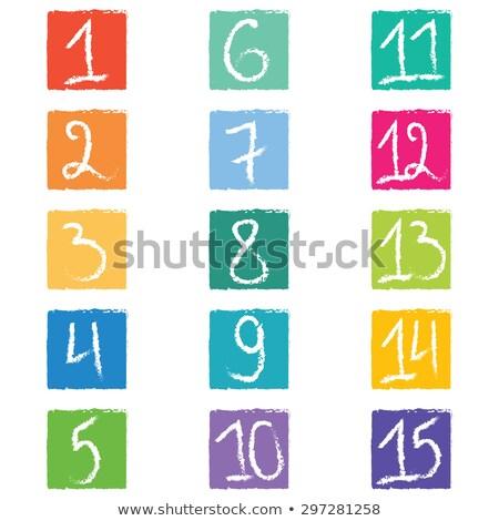 número · etiqueta · etiquetas · placa · bádminton · juegos - foto stock © mtkang