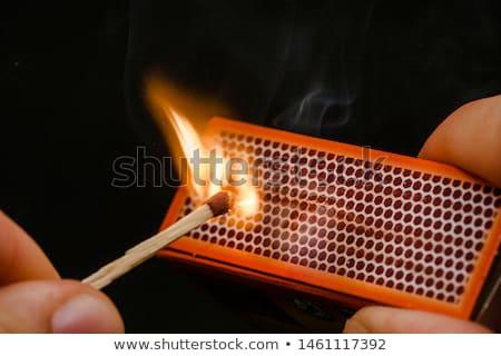 Fuego partido negro madera luz llama Foto stock © wavebreak_media
