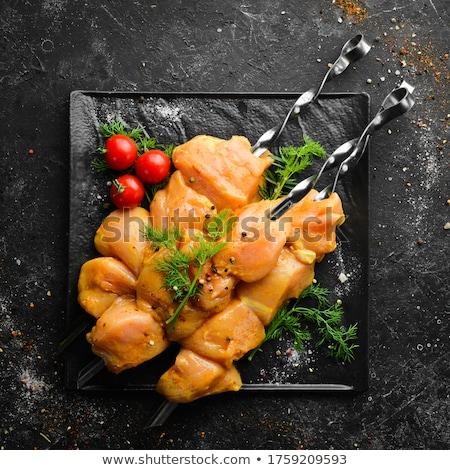 сырой · продовольствие · древесины · куриные · обеда - Сток-фото © ozgur