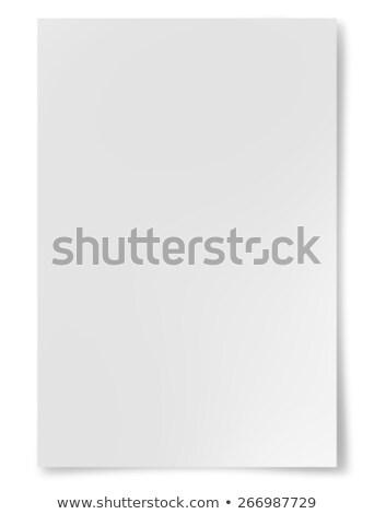 Defter beyaz halka siyah beyaz iş ofis Stok fotoğraf © guillermo