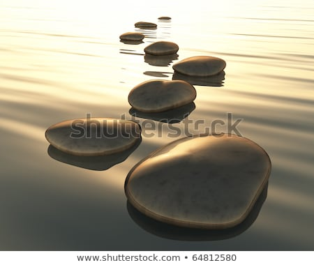 Stepping stones with smooth rocks Stock photo © Lightsource