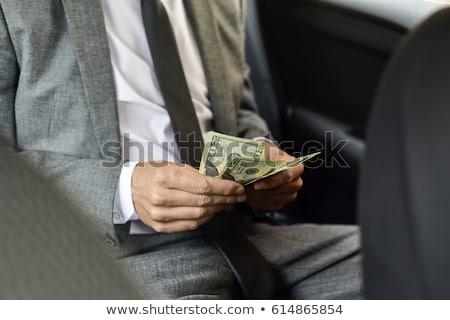 üzletember · Euro · pénz · fehér · üzlet · portré - stock fotó © len44ik