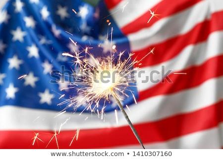 sparkler on usa flag stock photo © paha_l