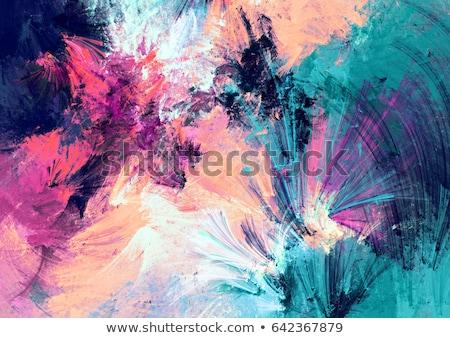 Puha kék absztrakt festmény fal festék Stock fotó © Kheat