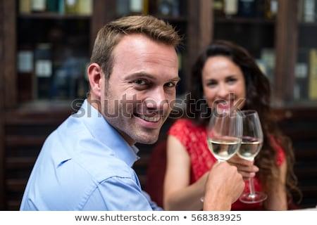 oblubienicy · pan · młody · szampana · patrząc - zdjęcia stock © luminastock