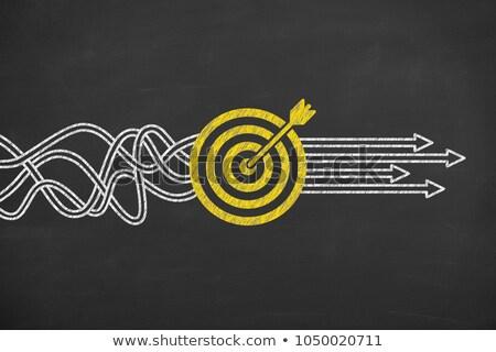 Goals, Strategy, Solutions chalk drawing Stock photo © kbuntu