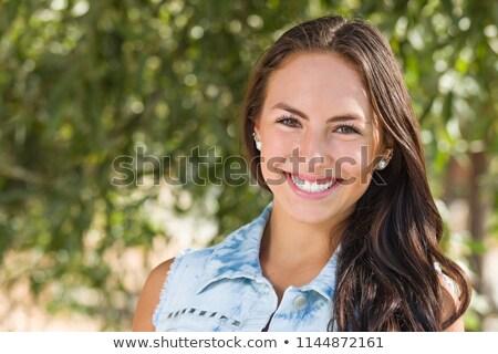 pretty puerto rican girl stock photo © arenacreative