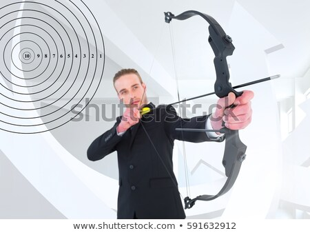 Arrows Aiming Target Showing Focusing Stock photo © stuartmiles