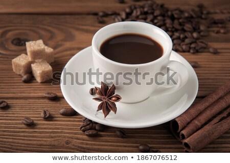 Brown And White Cane Sugar,Cinnamon And Anise Star Stock photo © saddako2