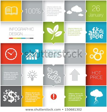 Vettore abstract piazze illustrazione infografica modello Foto d'archivio © orson