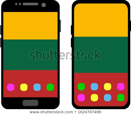 Smart phone button with Lithuania flag Stock photo © lirch