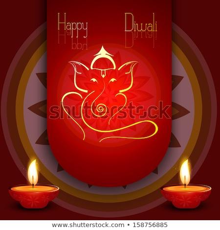 gyönyörű · színes · vallásos · absztrakt · diwali · boldog - stock fotó © bharat