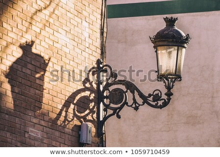 Cast iron street lamp in Venice Stock photo © w20er