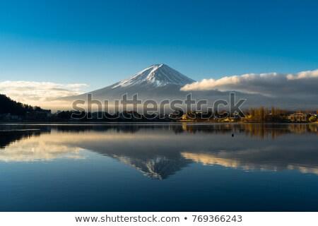 Montanha fuji nublado Japão céu paisagem Foto stock © vichie81