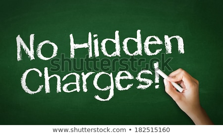 No Hidden Charges Chalk Illustration Stock photo © kbuntu