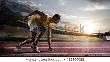 corrida · seguir · atletas · textura · esportes · fitness - foto stock © leungchopan